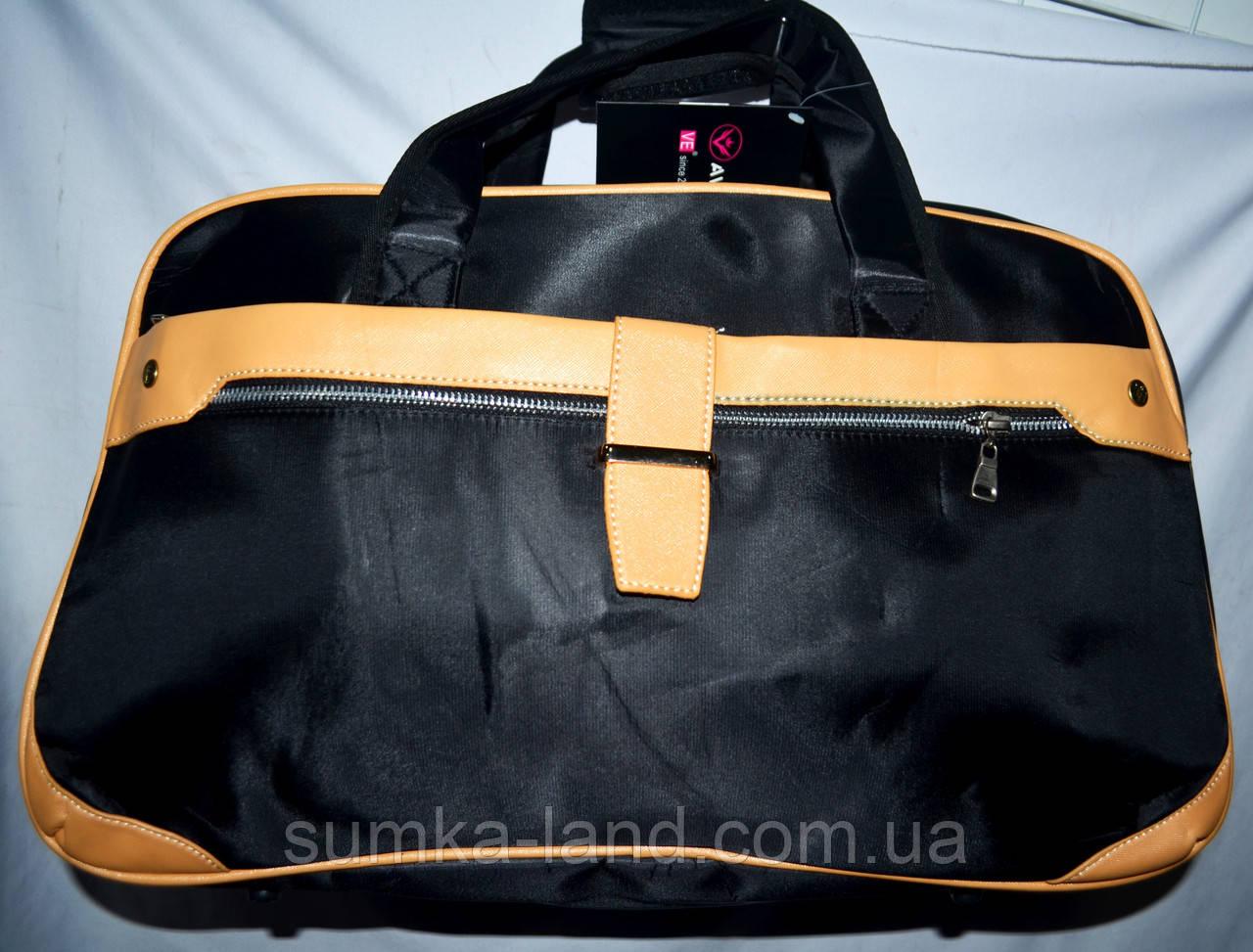e79437bbb16b Женская черная дорожная сумка из плащевки 50*30 см: продажа, цена в ...