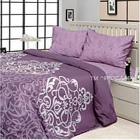 Постельное белье полуторное фиолетового цвета