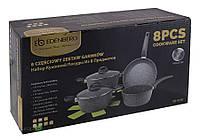 Набір каструль Edenberg Eb-9189, 2 казана, кухлик, сковорідка і 2 підставки під гаряче, фото 1