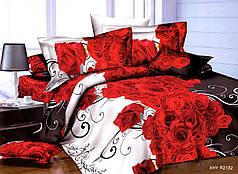 Полуторный набор постельного белья из Полисатина №006 Черешенка™