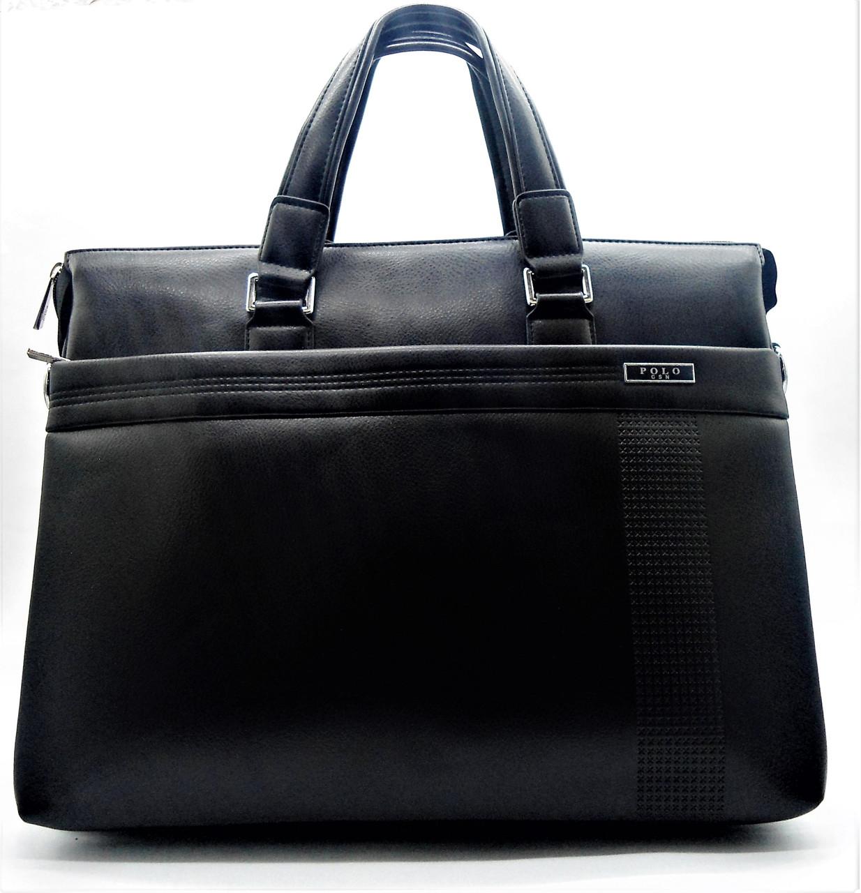 Мужская сумка-портфель POLO черного цвета СМ-88, фото 1