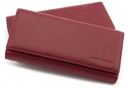 7e57e6890f68 Женский Кошелёк на магнитах в красном цвете с внутренним блоком для  кредитных карт HORTON TRW8584PR
