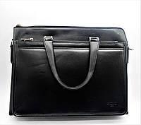 Удобная мужская сумка-портфель POLO черного цвета СМ-89, фото 1