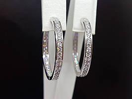 Серебряные серьги с фианитами. Артикул 902-01061