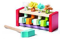 Деревянная игрушка Стучалка Клоуны-прыгуны Левеня Cubika (13746)