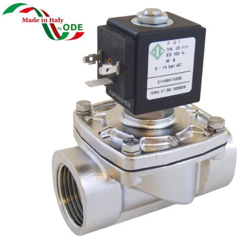 Клапан электромагнитный нержавеющий 21IH5K1V200 (ODE, Italy), G3/4