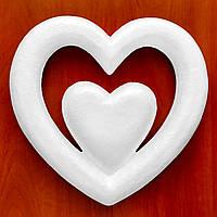 Сердце #02 из пенопласта (основа для композиций) 25 см