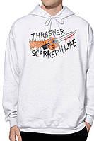 Толстовка Thrasher белая | Худи Thrasher (реплика)