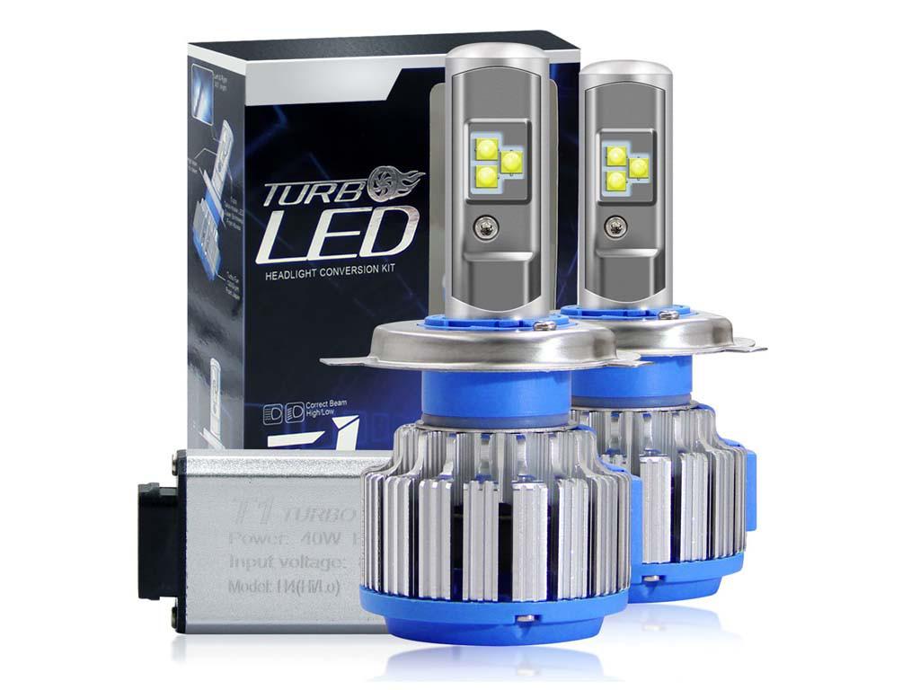 TURBO LED T1 H4  XENON 6000К