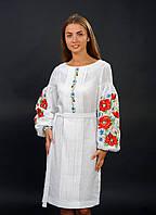 Белое платье вышиванка, арт. 4151