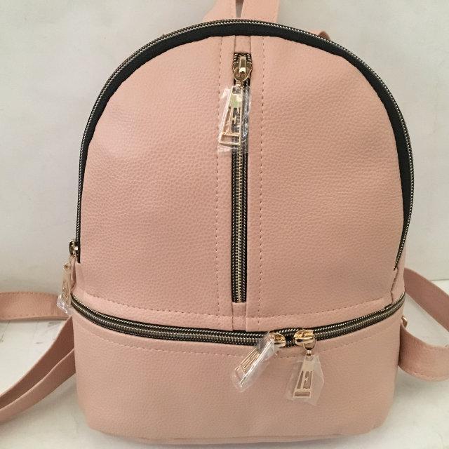 Рюкзак женский эко-кожа городской стильный. Пудра