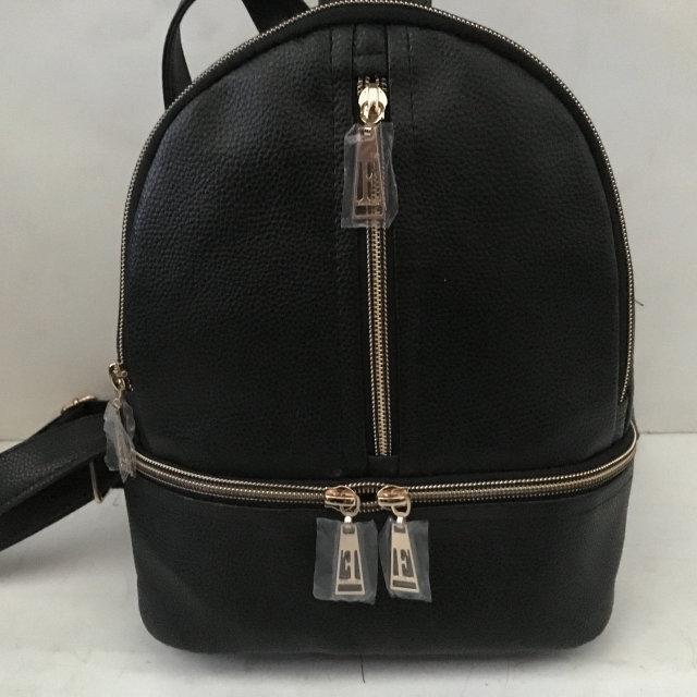 Рюкзак женский эко-кожа городской стильный. Черный