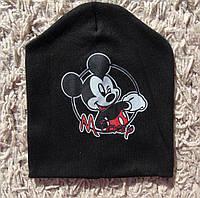 Детская двойная шапочка Микки Маус интерлок