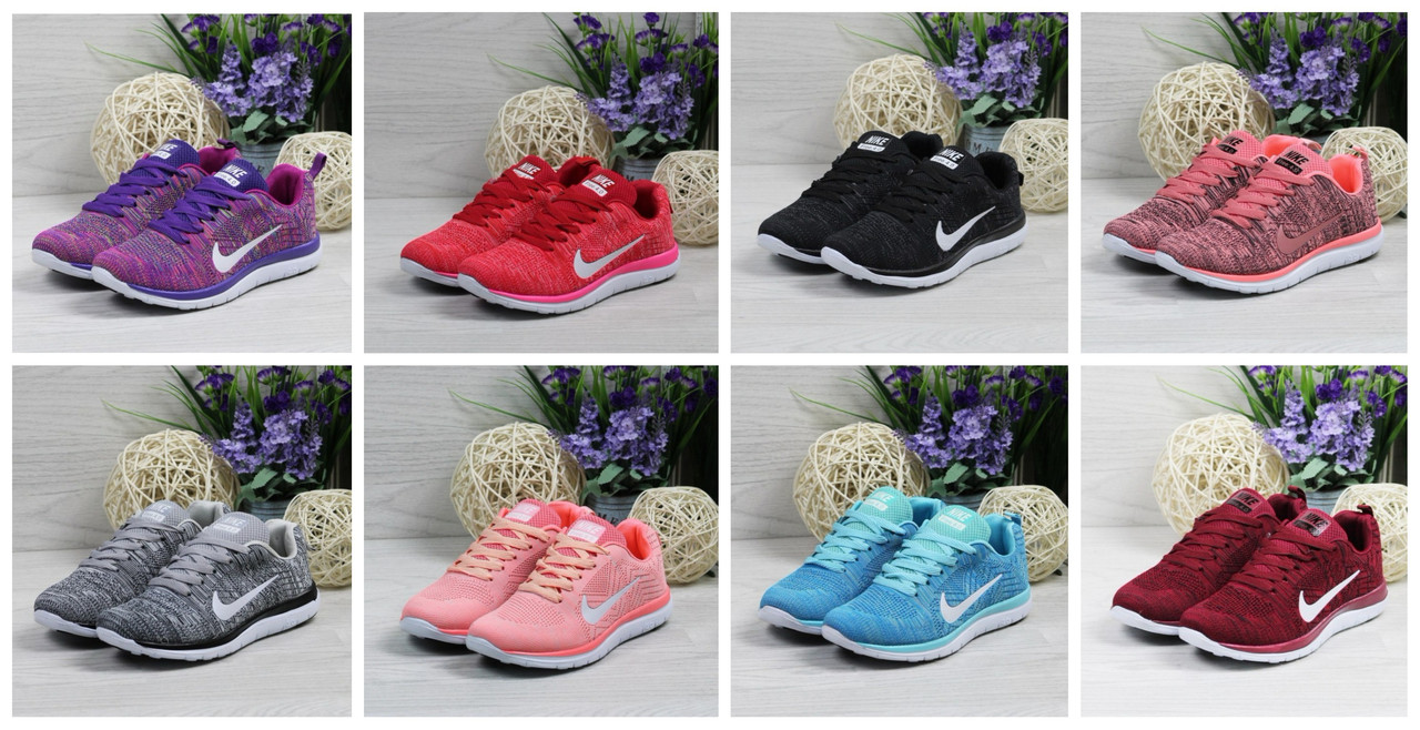 4b26cc40 Женские кроссовки Nike Free Run 4.0 (8 цветов в наличии), Темно-розовые ...
