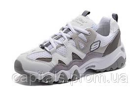 "Женские кроссовки Skechers D'Lites 2 ""White/Charcoal/Grey"""