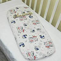 Простынь в коляску для новорожденных -06