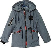 """Куртка детская демисезонная """"TAILANG"""" #HL-103 для мальчиков. 5-6-7-8-9 лет. Серо-синяя. Оптом., фото 1"""