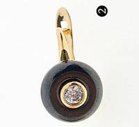 654. Серьги керамические позолоченные оптом из Китая. Бижутерия и женские украшения.