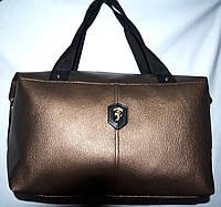 Женская универсальная бронзовая сумка Ferrari из искусственной кожи 39*24 см