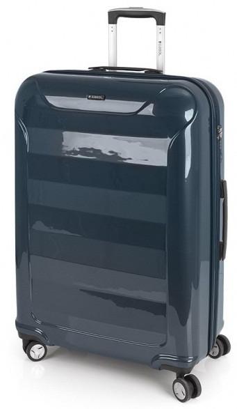 Чемодан большой Gabol Slat 924896 пластик синий 89 л, 4 колеса