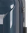 Чемодан большой Gabol Slat 924896 пластик синий 89 л, 4 колеса, фото 3
