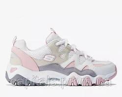 """Женские кроссовки Skechers D'Lites 2 """"White/Pink/Beige"""""""