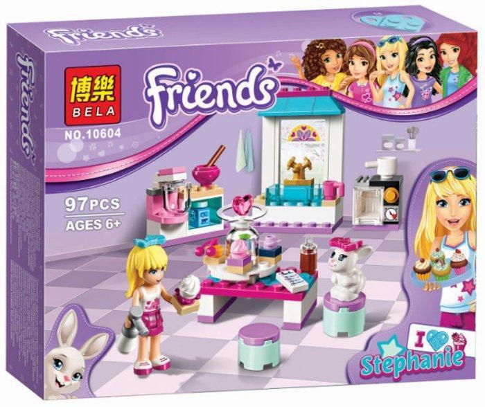 """Конструктор Bela Friends 10604 """"Кондитерська Стефані"""" 97 деталей."""