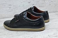 Мужские кожаные мокасины черные, фото 1