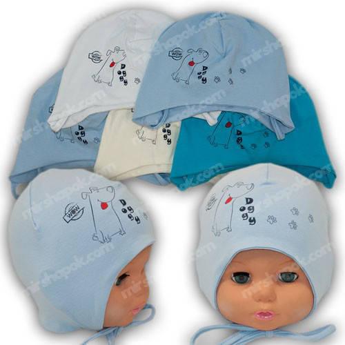 Трикотажные детские шапочки, р. 40-42