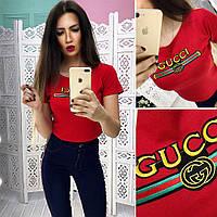 Топ модный женский Gucci трикотаж яркие цвета Ss207, фото 1