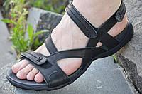 Босоножки, сандали мужские черные мягкие, удобные натуральная кожа. .
