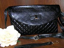 Сумочка-клатч жіночий стьобаний 25,5х15х4 див. Чорний