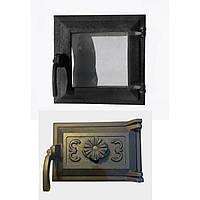 """Дверца чугунная стекло комплект """"ЭКО"""" 230*275 мм (вес - 8 кг)"""