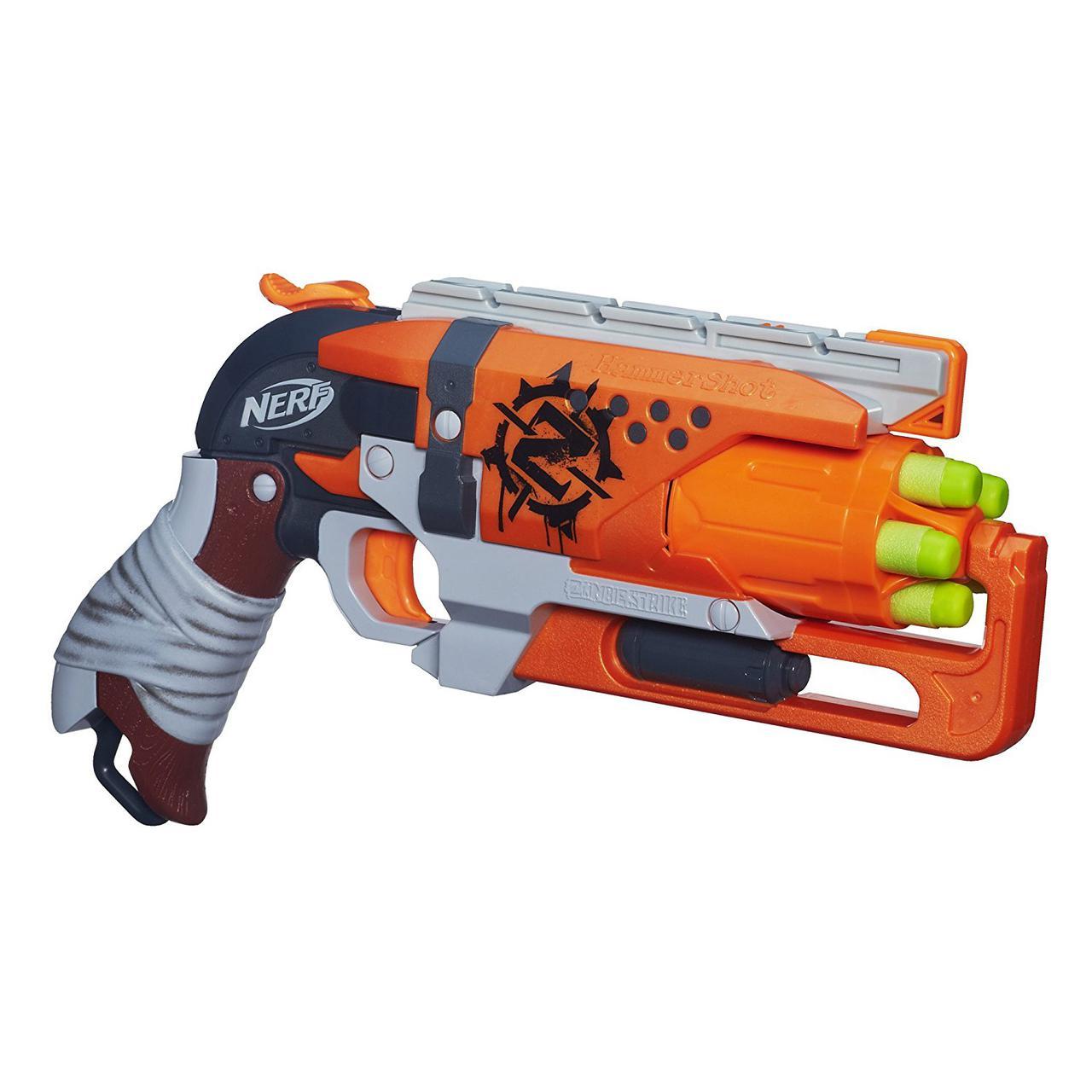 Бластер НЕРФ Зомби Страйк Хаммершот Nerf Zombie Strike Hammershot Blaster