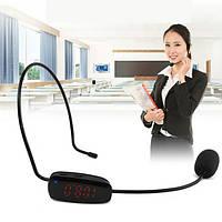 Микрофон для автобусов беспроводной на голову - гарнитура FM