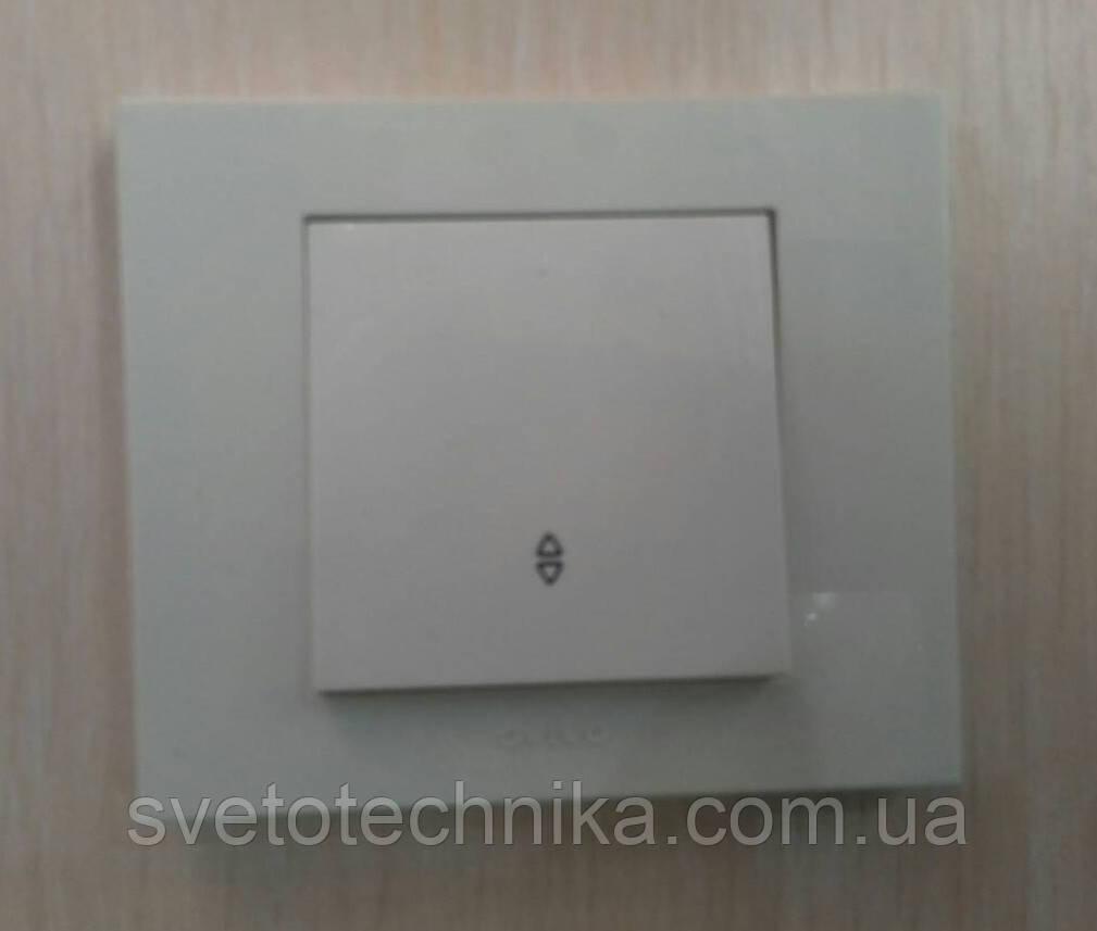 Выключатель одноклавишный проходной OVIVO Grano скрытой установки (крем)