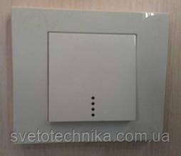 Выключатель одноклавишный OVIVO Grano с подсветкой скрытой установки (белый)
