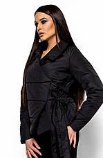 Женская модная куртка Флер черная, р.42-48, фото 2