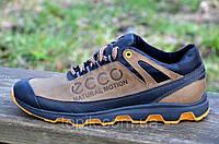 Кроссовки ecco реплика natural motion  кожаные мужские (Код: Б505а)