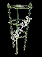 Кольцевая металлическая поддержка для растений, на 3 кольца, фото 1