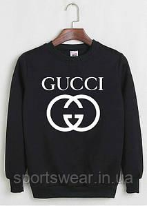 """Свитшот Gucci черный с белым логотипом, унисекс (мужской,женский,детский) """""""" В стиле Gucci """""""""""