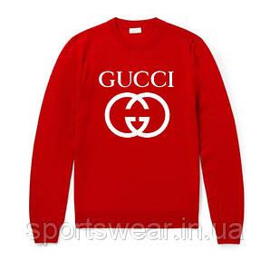 """Свитшот Gucci красный с логотипом, унисекс (мужской,женский,детский) """""""" В стиле Gucci """""""""""