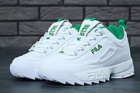 Кроссовки Fila Disruptor 2 White Green, фото 1