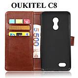 Люксовый чехол книжка для Oukitel C8 от фирмы Dneilacc, фото 5