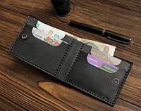 """Шкіряний гаманець """"Square"""" унісекс кожаный кошелек унисекс, бумажник ручної роботи, натуральна шкіра"""