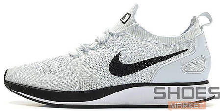Мужские кроссовки Nike Air Zoom Mariah Flyknit Racer Pure Platinum/White, Найк Аир Зум, фото 2