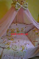 Детский постельный комплект ТМ«ASIK» розовые пчёлки ( 8 элементов) №102