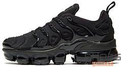 Женские кроссовки Nike Air Vapormax Plus (Black/Black — Dark Grey)