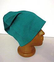 Молодежная бирюзовая женская шапка