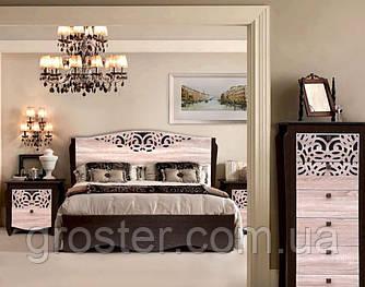 Модульная спальня Гефест. Двуспальная кровать, тумба, комод.